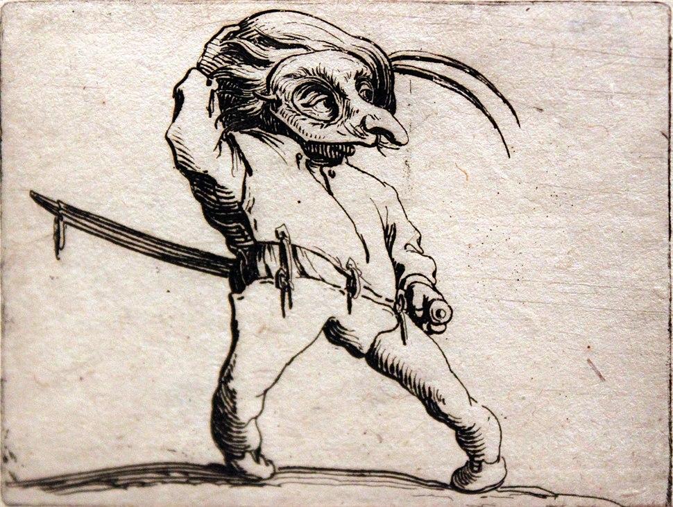 1620 Callot Der Maskierte mit verdrehten Beinen anagoria