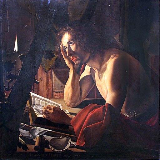 1627 Herz Selbstbildnis als Johannes der Täufer anagoria