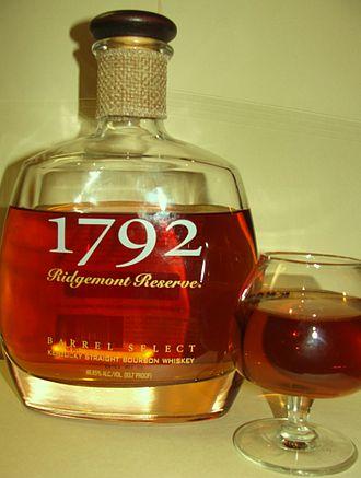 "1792 Bourbon - Prior bottle before name change, with branding as ""1792 Ridgemont Reserve"""