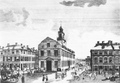 1793 StateHouse Boston MassachusettsMagazine July.png