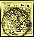 1851ca 3kr W Rosenfeld Mi2a hellgelb.jpg