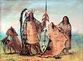 1854 Catlin Mandan Mato-Tope mit Frau und Sohn anagoria.JPG