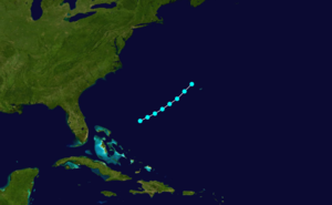 1869 Atlantic hurricane season - Image: 1869 Atlantic tropical storm 4 track