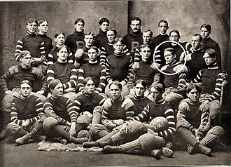 George Marshall - 1900 VMI Keydets football team. Marshall encircled