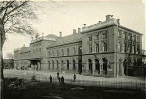 Aarhus Central Station - Image: 1905 banegård