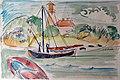 1912 Kirchner Fehmarnküste mit Leuchtturm anagoria.JPG