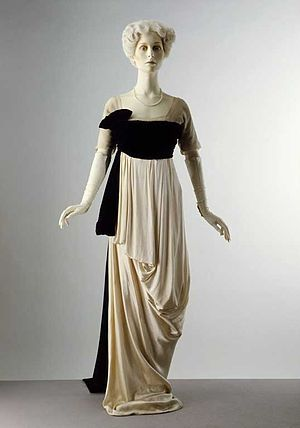 1910s in Western fashion - Evening gown, designed about 1912 by Lucile (1863–1935)