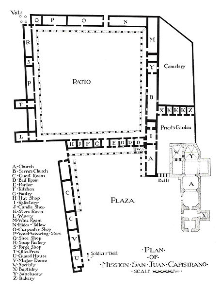 File:1916 Rexford Newcomb plan view -- Mission San Juan Capistrano.jpg