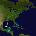 1934 Central America hurricane track.png