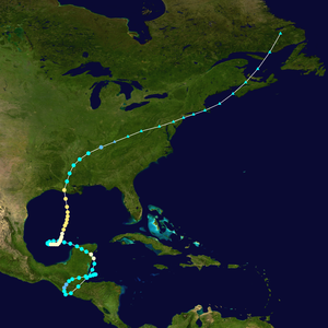1934 Atlantic hurricane season - Image: 1934 Central America hurricane track