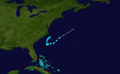 1956 Atlantic tropical storm 9 track.png