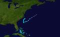 1956 Atlantic tropical storm 9 track.png