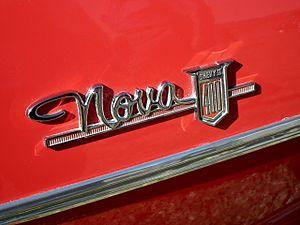 Chevrolet Chevy II / Nova - Nova wordmark emblem on side