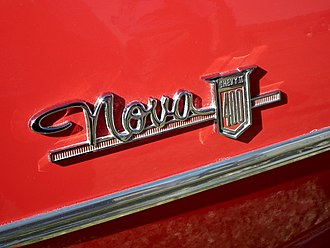 Chevrolet Chevy II / Nova - Nova wordmark emblem on side