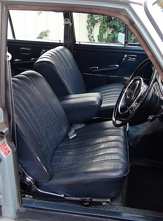 Artificial leather - 1968 Mercedes Benz 280SE (W108) Seats and door trim in Blue MB-Tex