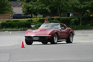 Autocross - A 1970 Corvette participating in an Autocross