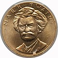 1981 Mark Twain One-Ounce Gold Medal (obv).jpg