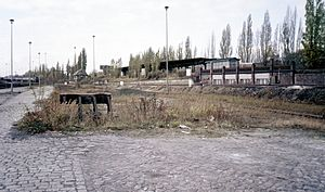 Berlin-Spandau station - Spandau freight yard and Spandau West S-Bahn station, 1986