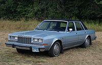 1986 Plymouth Gran Fury Salon (14870099854) (cropped).jpg