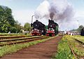 1994 Parade of steam locomotives in Wolsztyn Ty43 123 i TKt48 143.jpg