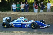 Photo de la Williams FW16 de Damon Hill au festival de Goodwood 2009
