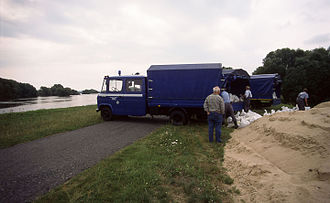 1997 Central European flood - Hohensaaten, Germany