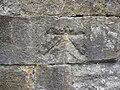 1GL bench mark and bolt on Devil's Bridge - geograph.org.uk - 1897349.jpg