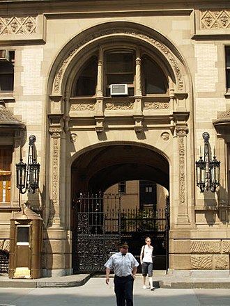 Mark David Chapman - The entrance to the Dakota building where Lennon was shot