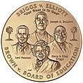 2003 Brown et al. v. the Board of Education of Topeka et al. Congressional Gold Medal front.jpg