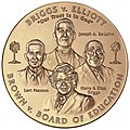 2003 Brown et al. v. the Board of Education of Topeka et al. Congressional Gold Medal front.jpg