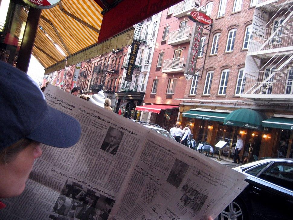 2006 newspaper reader NYC 277350696