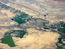 Aerial view of Medicine Bow and surrounding area