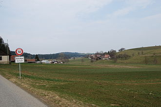Auswil - Aerbolligen in the municipality of Auswil