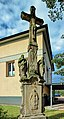 2012 Piotrowice koło Karwiny, Kalwaria z krzyżem, rzeźbami i płaskorzeźbą Świętej Weroniki (01).jpg