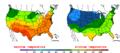 2013-05-23 Color Max-min Temperature Map NOAA.png