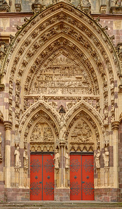Собор св. Убальда (Соборная церковь Сен-Тибо) - достопримечательности Танна (Thann), Эльзас - путеводитель по городу