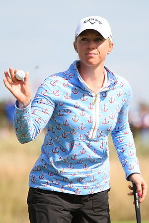 Morgan Pressel - Pressel at the 2013 Women's British Open