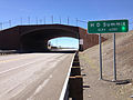 2014-06-22 11 11 57 Sign for H D Summit and a wildlife overpass along southbound U.S. Route 93 about 94 miles north of the White Pine County Line in Elko County, Nevada.JPG