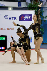 2014 Acrobatic Gymnastics World Championships - Women's group - Qualifications - France 1 06.jpg