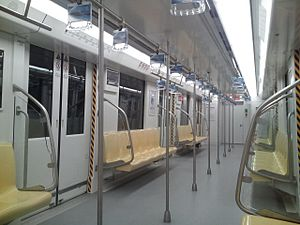 Line 10, Nanjing Metro - A view in line 10 train