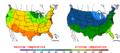 2016-04-23 Color Max-min Temperature Map NOAA.png