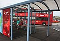 2017 at Penzance bus station - new stand (First 33455 WK66CCN).JPG