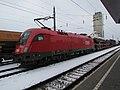 2018-02-22 (120) ÖBB 1116 141-3 with wagons of new cars at Bahnhof Herzogenburg, Austria.jpg