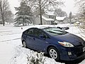 2018-03-21 13 13 35 A Prius in the snow along Tranquility Court in the Franklin Farm section of Oak Hill, Fairfax County, Virginia.jpg