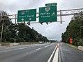 2018-10-11 11 29 25 View west along Interstate 66 at Exit 60 (Virginia State Route 123, Fairfax, Vienna) in Oakton, Fairfax County, Virginia.jpg