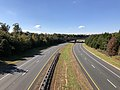 2018-10-30 12 15 40 View north along Virginia State Route 286 (Fairfax County Parkway) from the overpass for Virginia State Route 641 (Pohick Road) on the border of Burke and Newington Forest in Fairfax County, Virginia.jpg