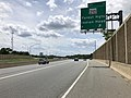 2019-05-27 13 58 15 View south along the inner loop of the Capital Beltway (Interstate 95 and Interstate 495) at Exit 3 (Maryland State Route 210, Forest Heights, Indian Head) in Forest Heights, Prince George's County, Maryland.jpg