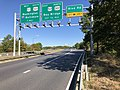 2019-09-24 10 05 22 View west along Maryland State Route 665 (Aris T. Allen Boulevard) at the exit for Riva Road in Parole, Anne Arundel County, Maryland.jpg