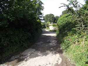 Portreath Tramroad - The track of the Portreath Tramroad near St Day