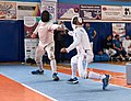 2nd Leonidas Pirgos Fencing Tournament. Double touch for Mathew Baker and Vasilios Papadopoulos.jpg